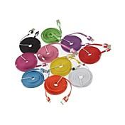 삼성 3m V8 마이크로 USB 국수 데이터 케이블 은하 S5 / S4 / S3 / S2와 HTC / 노키아 / 소니 / LG (모듬 색상)