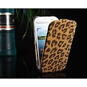 용 삼성 갤럭시 케이스 플립 / 패턴 케이스 풀 바디 케이스 레오파드 프린트 인조 가죽 Samsung S3