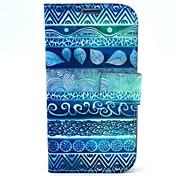 용 삼성 갤럭시 케이스 스탠드 / 플립 / 패턴 케이스 풀 바디 케이스 기하학 패턴 인조 가죽 Samsung S4