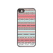 caja del teléfono personalizado - caso rombo diseño de metal de color rosa para el iphone 5 / 5s
