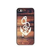 caja del teléfono personalizado - caso del diseño del metal de anclaje para el iphone 5 / 5s