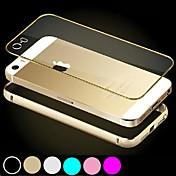 df tope de aluminio marco con pc transparente caso de la contraportada para el iphone 6 más (colores surtidos)