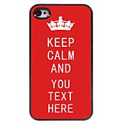 개인의 경우 빨간색은 아이폰 4 / 4S에 대한 차분한 디자인의 금속 케이스를 유지