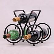 빈티지 디자인의 스틸 와인 랙 홀더 바 병 선반 바 장식 디스플레이