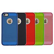 용 아이폰5케이스 충격방지 / 반투명 케이스 뒷면 커버 케이스 단색 하드 PC iPhone SE/5s/5