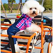 개 코스츔 점프 수트 그린 로즈 강아지 의류 겨울 모든계절/가을 청바지 코스프레 캐쥬얼/데일리