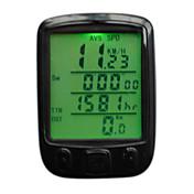 """사이클링/자전거 자전거 디지털 장비 방수 주행 거리계(오도미터) + """"- 비교 설정 (km / M) 세트 타이어 둘레 자동 전원 켜짐/꺼짐"""