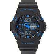 남성 스포츠 시계 밀리터리 시계 디지털 시계 LED LCD 석영 디지털 고무 밴드 블랙