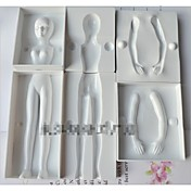 패션 퐁당 케이크 초콜릿 장식 금형 주방 목록 bakeware 요리 장식 모델링 도구 (색상 랜덤)