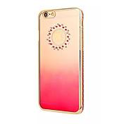 Para Funda iPhone 6 / Funda iPhone 6 Plus Traslúcido Funda Cubierta Trasera Funda Logo Playing With Apple Dura PolicarbonatoiPhone 6s
