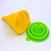 실리콘 주방 필수적인 도구 확장 깔때기 (색상 임의)