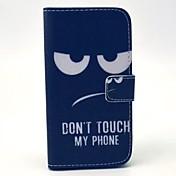 용 삼성 갤럭시 케이스 지갑 / 카드 홀더 / 스탠드 / 플립 케이스 풀 바디 케이스 단어 / 문구 인조 가죽 Samsung S4