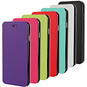 Para Funda iPhone 6 / Funda iPhone 6 Plus Flip / Ultrafina Funda Cuerpo Entero Funda Un Color Dura Cuero SintéticoiPhone 6s Plus/6 Plus /