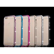 아이폰 6에 대한 특별한 디자인 금속 다이아몬드 범퍼 프레임과 투명한 TPU