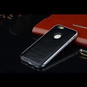 가죽 뒷면 커버 아이폰 6 고급 금속 프레임 보호 (모듬 색상)