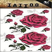 1 타투 스티커 꽃 시리즈 Non Toxic 큰 사이즈 허리 아래여성 플래시 문신 임시 문신