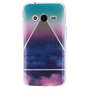 용 삼성 갤럭시 케이스 패턴 케이스 뒷면 커버 케이스 풍경 TPU Samsung Ace 4
