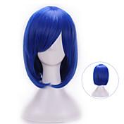 Mujer Pelucas sintéticas Sin Tapa Ondulado Natural Azul Con flequillo Peluca de Halloween Peluca de carnaval Las pelucas del traje