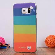 제품 삼성 갤럭시 케이스 케이스 커버 엠보싱 텍스쳐 뒷면 커버 케이스 라인 / 웨이브 TPU 용 Samsung S6