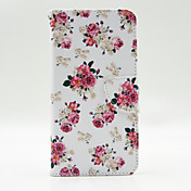 용 Samsung Galaxy Note 지갑 / 카드 홀더 / 스탠드 / 플립 케이스 풀 바디 케이스 꽃장식 인조 가죽 Samsung Note 5 Edge / Note 5