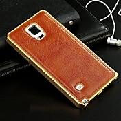 용 삼성 갤럭시 케이스 도금 케이스 뒷면 커버 케이스 단색 천연 가죽 Samsung A7 / A5 / A3
