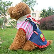 개 코스츔 / 의상 / 드레스 핑크 강아지 의류 모든계절/가을 하트 / 과일 코스프레 / 할로윈