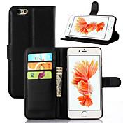 아이폰 7 플러스 지갑 2 카드 슬롯과 아이폰 기가 6 플러스 플립 커버 PU 가죽 케이스 스탠드