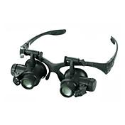 Monocular Lupas Alta Definición LED Resistente a la intemperie Antiempañamiento Genérico Gran Angular Auricular y Micrófono 20 25Metal
