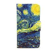 Caso para el iphone de la manzana 7 7 más el iphone 6s 6 más la cubierta del caso los casos de cuero estrellados de la PU del patrón del