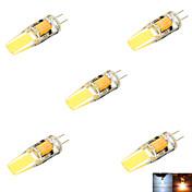 ywxlight® 5 개 g4 3 w 2 개 코브 200-300 lm 따뜻한 흰색 / 시원한 흰색 / 자연 흰색 mr11 양방향 핀 라이트 (ac / dc 10-14v)