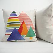 Algodón / Lino / Algodón/Lino Cobertor de Cojín / Almohada innovadora / Funda de almohada ,Floral / Novedad / Con Texturas / Geométrica /