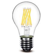 E26/E27 Bombillas de Filamento LED A60(A19) 8 COB 800 lm Blanco Cálido Decorativa AC 100-240 V 1 pieza