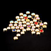 100PCS 다채로운 진주 금속 lipping 네일 아트 장식