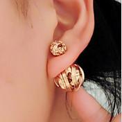 여성 스터드 귀걸이 양면 의상 보석 합금 보석류 제품 결혼식 파티 일상 캐쥬얼