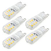 ywxlight® 5 개 디 밍이 가능한 4w g9 led 바이너리 핀 라이트 14 smd 2835 300 lm 웜 / 쿨 화이트 (ac220v / 110v)
