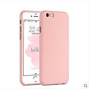 Para Funda iPhone 6 / Funda iPhone 6 Plus Antigolpes Funda Cubierta Trasera Funda Un Color Suave Silicona AppleiPhone 6s Plus/6 Plus /