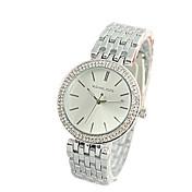 아가씨들 패션 시계 모조 다이아몬드 시계 석영 합금 밴드 럭셔리 실버 골드 로즈 골드