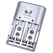 gd-802b aa 100-240v 200ma * 4 aaa 200ma * 4 europa batería estándar adaptador de cargador de plata