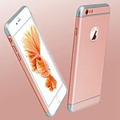 Para Funda iPhone 6 Plus Cromado Funda Cubierta Trasera Funda Un Color Dura Policarbonato para AppleiPhone 7 Plus / iPhone 7 / iPhone 6s