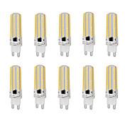 E14 / G9 / G4 / BA15D LED 콘 조명 T 152 SMD 3014 1000 lm 따뜻한 화이트 / 차가운 화이트 밝기 조절 AC 220-240 V 10개