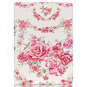corazones de color rosa caso de la cubierta del cuero del soporte del folio con el soporte para el ipad de aire 2