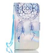 Para Funda iPhone 5 Cartera / Soporte de Coche / con Soporte / Flip / Diseños Funda Cuerpo Entero Funda Atrapasueños Dura Cuero Sintético