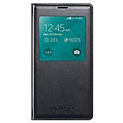 용 삼성 갤럭시 케이스 케이스 커버 윈도우 플립 풀 바디 케이스 단색 인조 가죽 용 Samsung S5