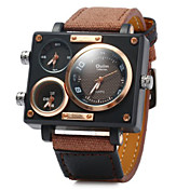 Men's Military Fashion Three Analog Time Leather Band Quartz Watch Wrist Watch Cool Watch Unique Watch