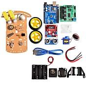 módulo de ultrasonidos nueva caja de evitación de motores de guiado del robot inteligente chasis del coche kit de batería de sensor de