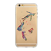 아이폰 7 플러스 컬러 그림이나 패턴은 아이폰 기가 6 플러스에 대한 커버 케이스를 투명 소프트 쉘 전화 케이스를 다시 TPU