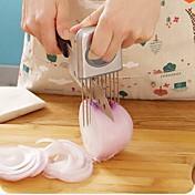 fácil de cebolla herramientas de soporte de la máquina de cortar vegetales de tomate cortador de utensilios de cocina de acero inoxidable