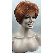 Mujer Pelucas sintéticas Sin Tapa Corto Liso Peluca natural Las pelucas del traje