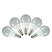E14 E26/E27 Bombillas LED de Globo G60 5 SMD 2835 200 lm Blanco Cálido Blanco Fresco AC 100-240 V 5 piezas