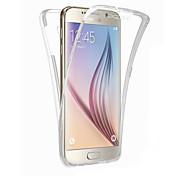 용 Samsung Galaxy S7 Edge 투명 케이스 풀 바디 케이스 단색 TPU Samsung S7 edge / S7 / S6 edge plus / S6 edge / S6 / S5